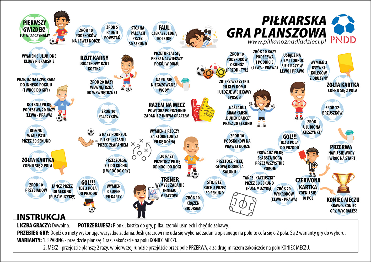 Piłkarska Gra Planszowa - wersja 1